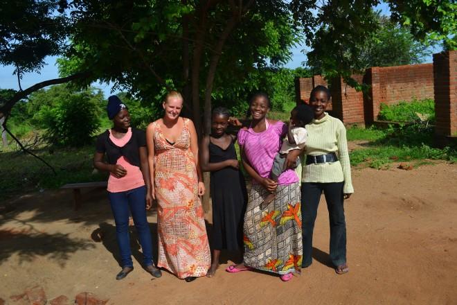 Fra venstre: Enala, Olivia, Abigail, Norah, Blessed, Anastacia