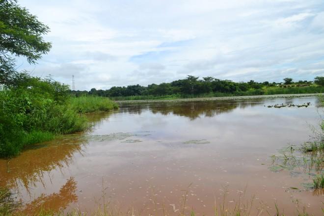 Søen i regntiden