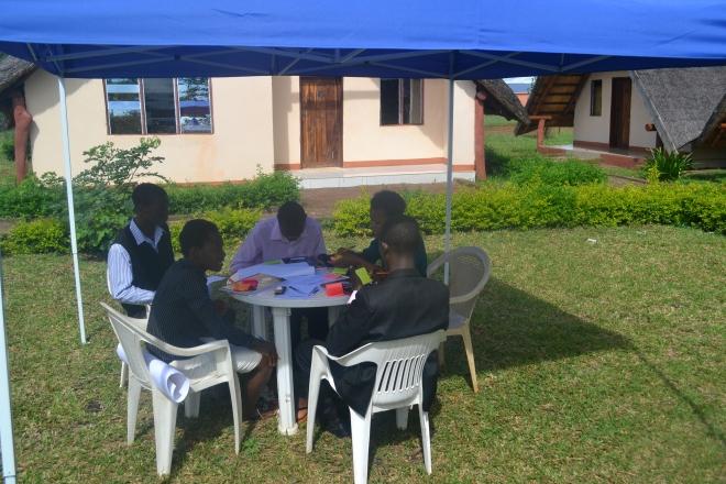 Gruppearbejde i forbindelse med idégenerering